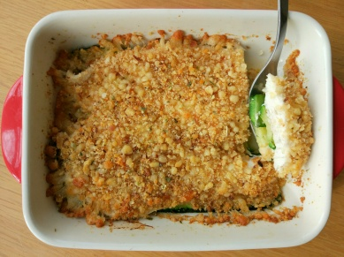 One pan chicken and courgette crumble