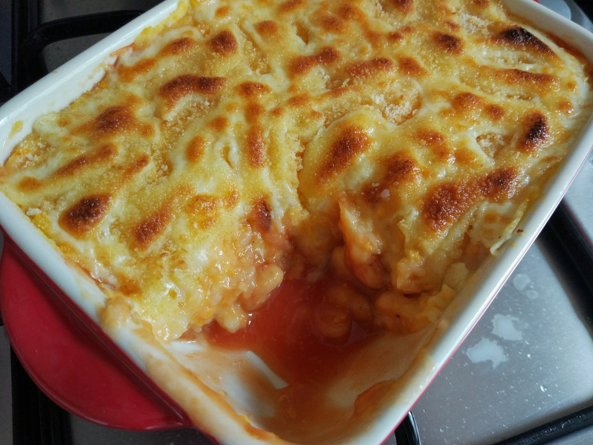 baked beans and potato bake