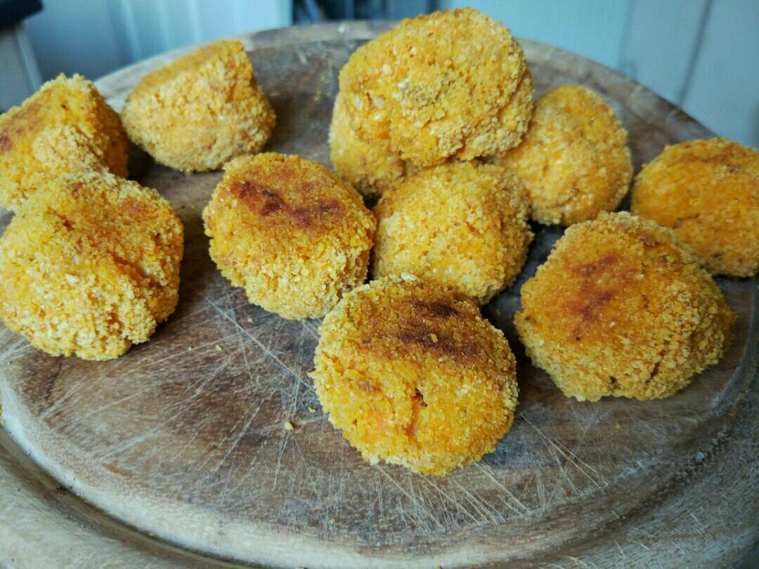 baked cauliflower veggie balls