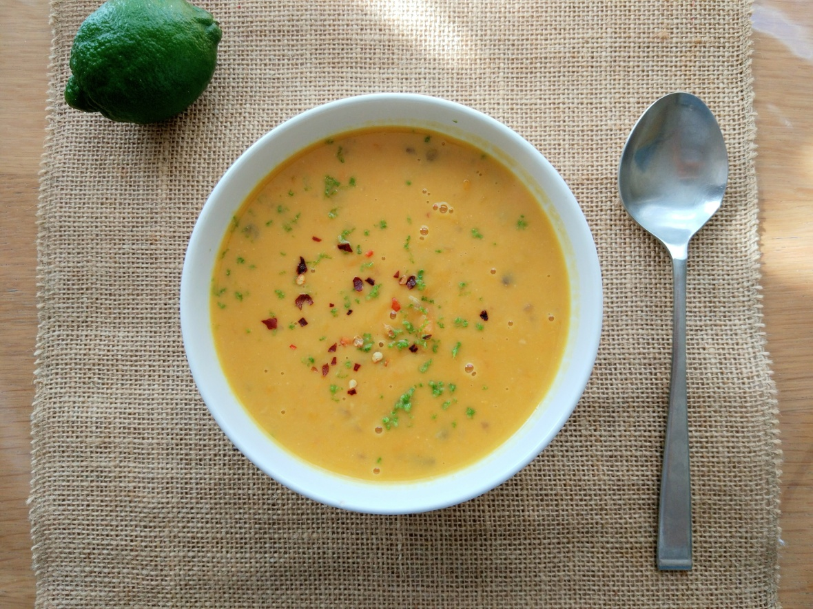 chickpea lime and coconut soup