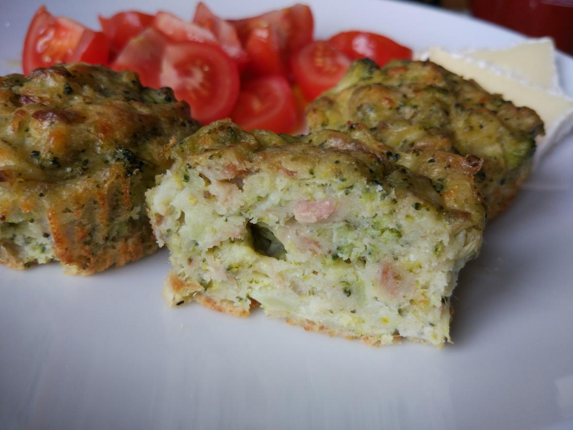 broccoli and tuna muffin