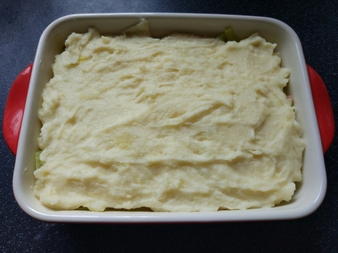 mash potato in oven