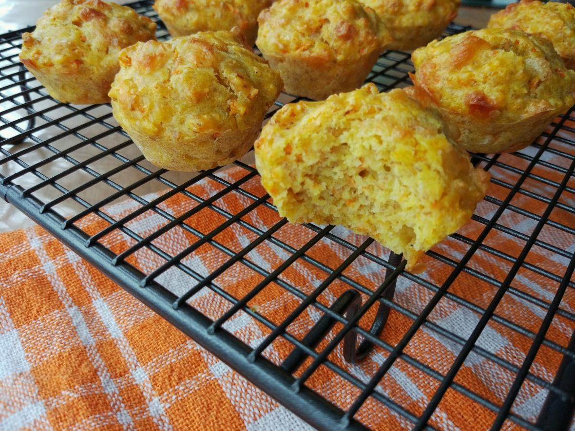 carrot and turmeric mini muffins